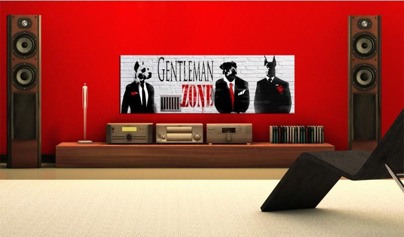 Gentlemen Zone vászonkép